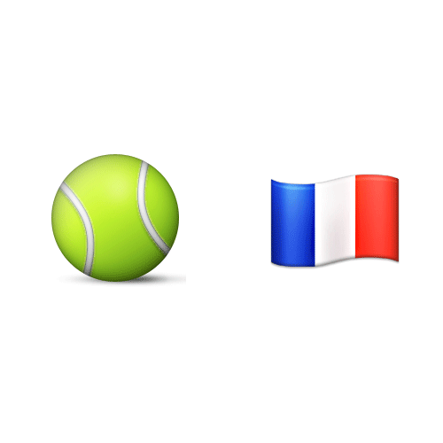 Emoji Quiz 3 answer: ROLAND GARROS
