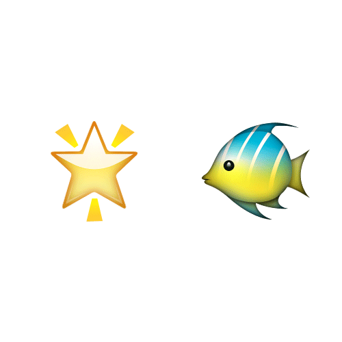 Emoji Quiz 3 answer: STARFISH