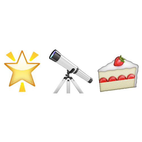 Emoji Quiz 3 answer: STARGAZY PIE