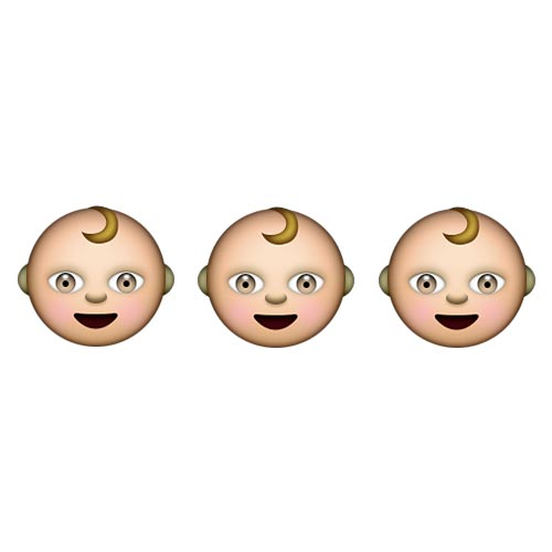 Emoji Quiz 3 answer: TRIPLETS