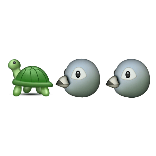 Emoji Quiz 3 answer: TURTLE DOVES