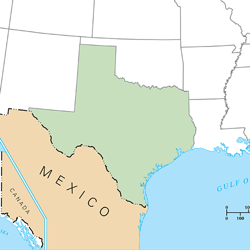 Etats Américains answer: TEXAS