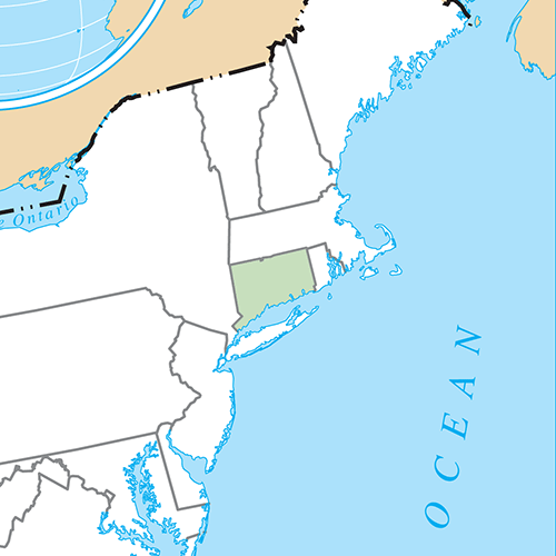 Etats Américains answer: CONNECTICUT