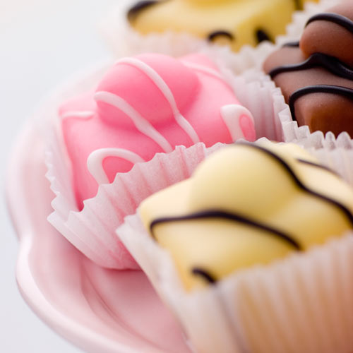 F is for... answer: FONDANT FANCIES