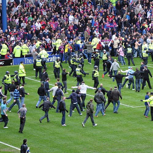 Football Focus answer: PITCH INVASION