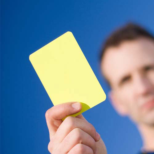 Football Focus answer: YELLOW CARD