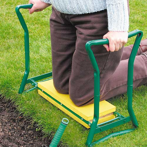 Gardening answer: KNEELER