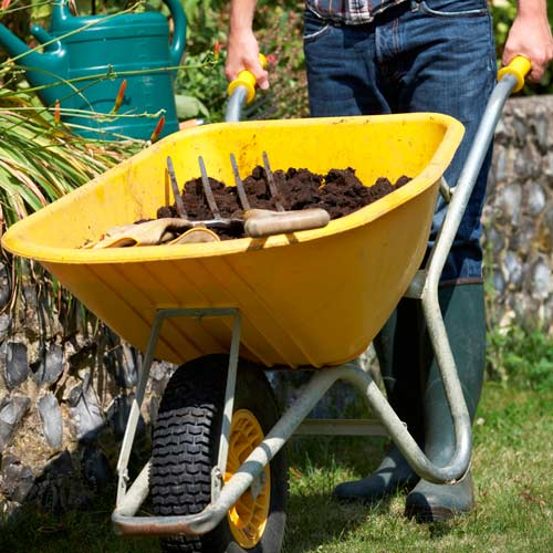 Gardening answer: WHEELBARROW