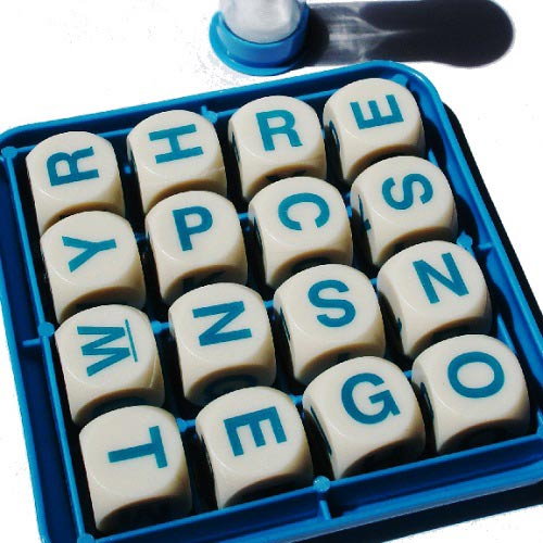 Jeux answer: BOGGLE