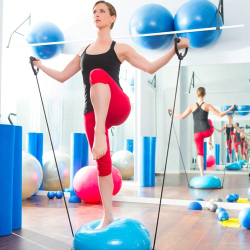 Keep Fit answer: BOSU BALL