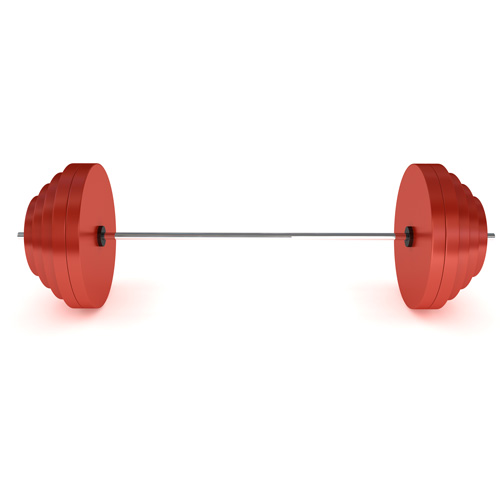 Keep Fit answer: BARBELL