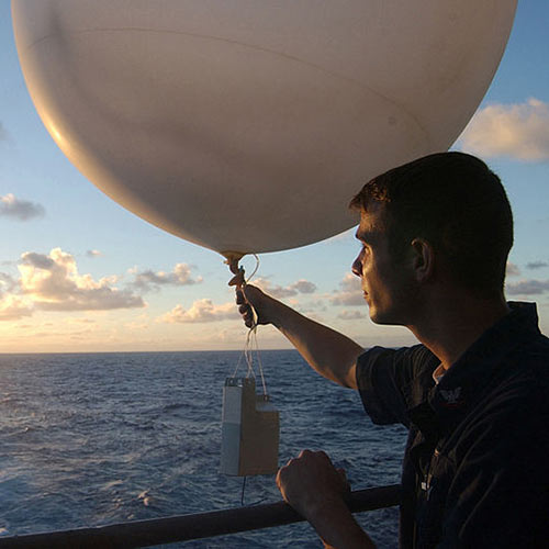 La météo answer: BALLON SONDE