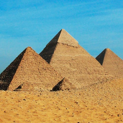 Monuments answer: PYRAMIDES