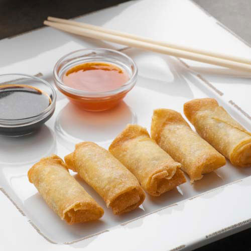 Nourriture answer: SPRING ROLLS