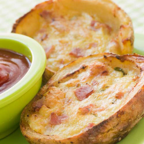 Nourriture answer: POTATO SKINS