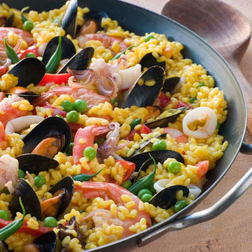Nourriture answer: PAELLA