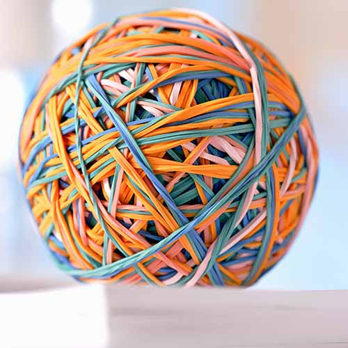 Office answer: RUBBER BAND BALL