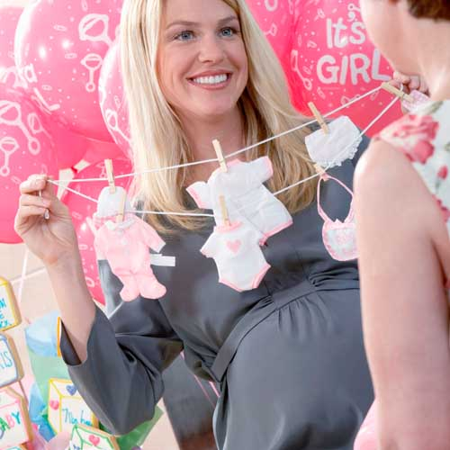 Party answer: BABY SHOWER