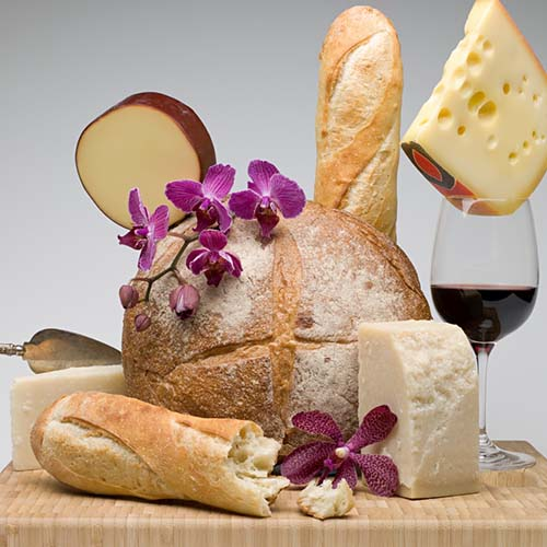 Party answer: CHEESE AND WINE