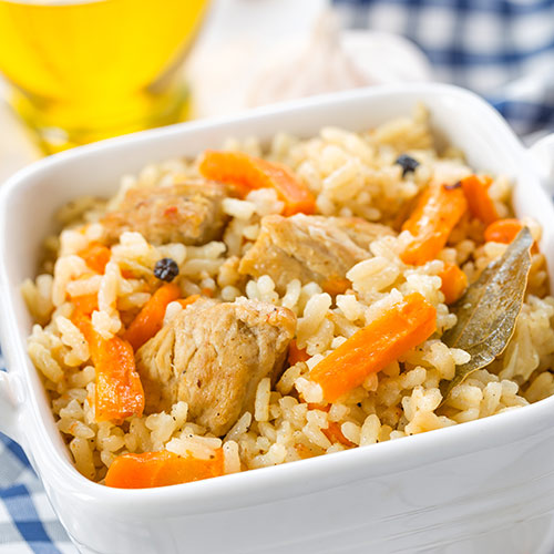 P is for... answer: PILAF