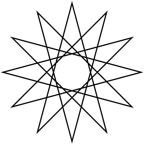 Shapes answer: DODECAGRAM