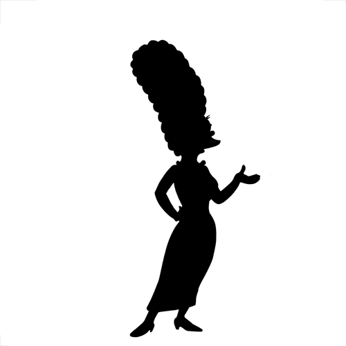 Silhouettes answer: MARGE SIMPSON
