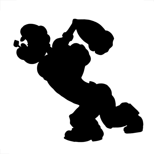 Silhouettes answer: POPEYE