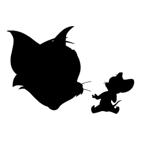 Silhouettes answer: TOM ET JERRY