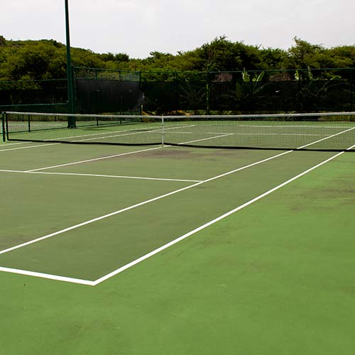 Tennis answer: SURFACE DURE