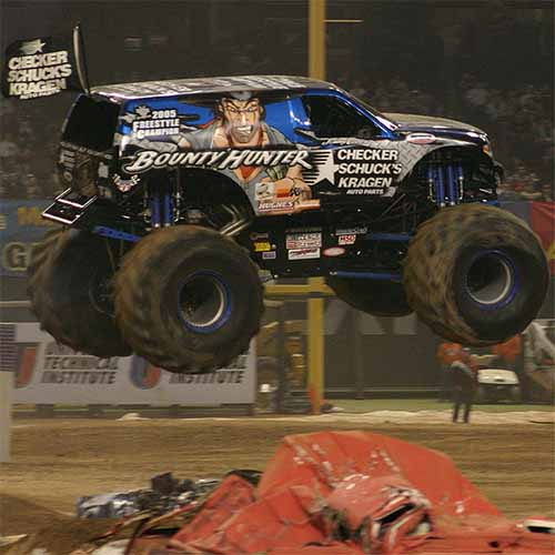 Transports answer: MONSTER TRUCK
