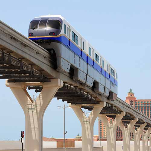 Transports answer: MONORAIL