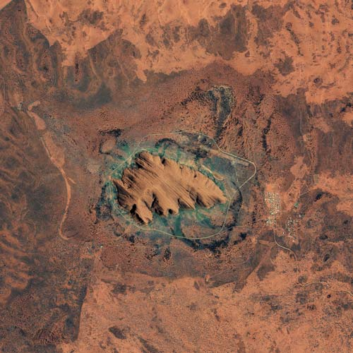 Earth from Above answer: AYERS ROCK