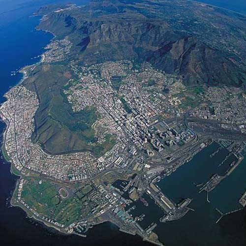 Earth from Above answer: TABLE MOUNTAIN